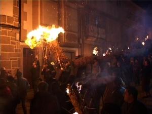 Fachón grande Festa dos Fachós en Castro Caldelas 19 de enero
